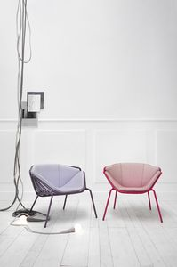 ART. 0081-MET SKIN, Poltrona colorata e moderna