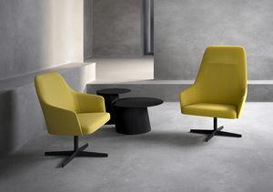 Axel 100L_4X/FU, Poltrona lounge con schienale alto