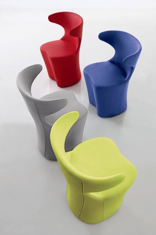 Poltrona design, in vari colori e tessuti, per soggiorno | IDFdesign