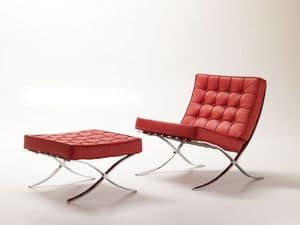 Linda, Poltrona design, moderna e comoda, capitonn�, per area attesa