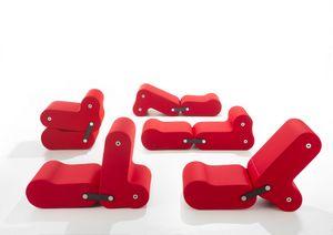 Multichair, Seduta trasformabile rivestita in tessuto elasticizzato