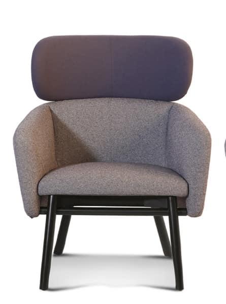 ART. BALÙ Lounge, Confortevole poltrona, per aree relax e conversazione