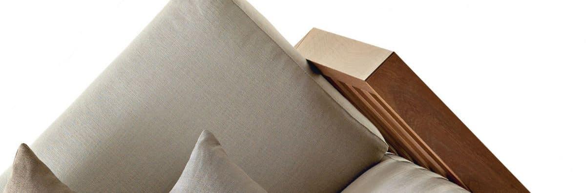 Dorsoduro poltrona, Poltrona dal design moderno, in legno massello, per salotto