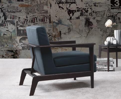Poltrona design imbottita con struttura in legno idfdesign for Poltrone moderne design