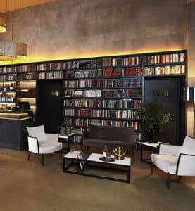 Nobilis poltrona lounge c/bra plxl, Poltrona con seduta larga, per area lounge
