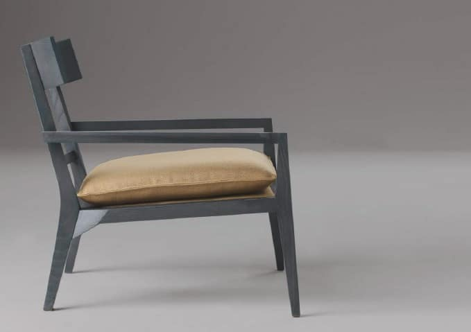 Teresa, Poltrona design in legno massello, per Soggiorni