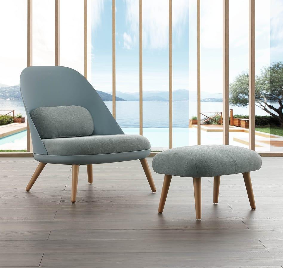 Poltrona lounge, con pouf | IDFdesign