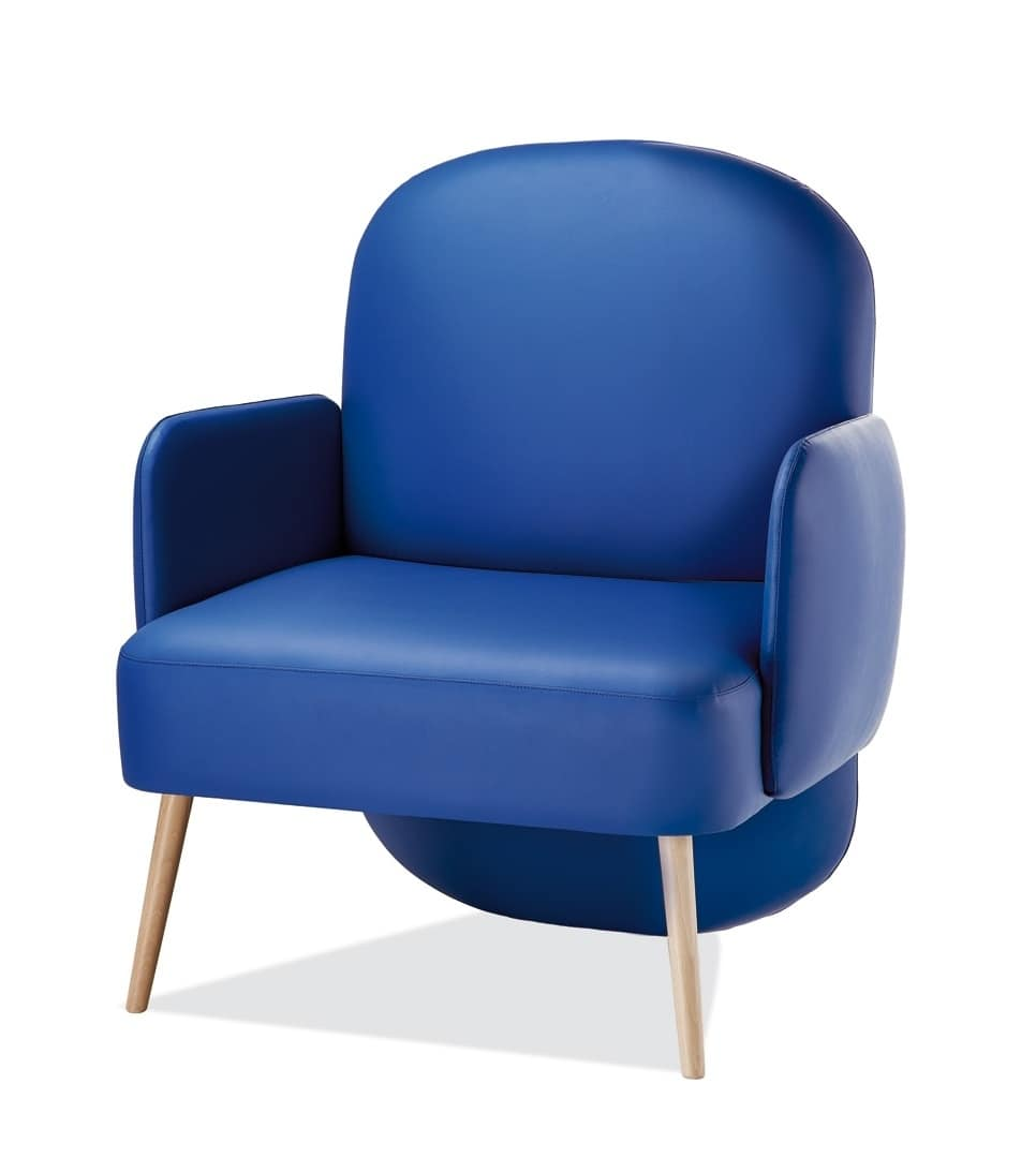 Poltrona rivestita in tessuto o eco pelle idfdesign for Poltrone moderne design
