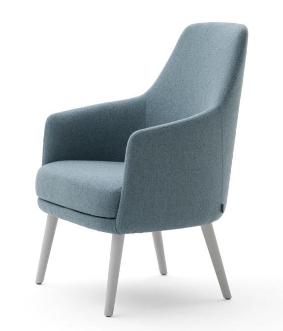 Danielle 03641, Poltrona lounge con seduta larga