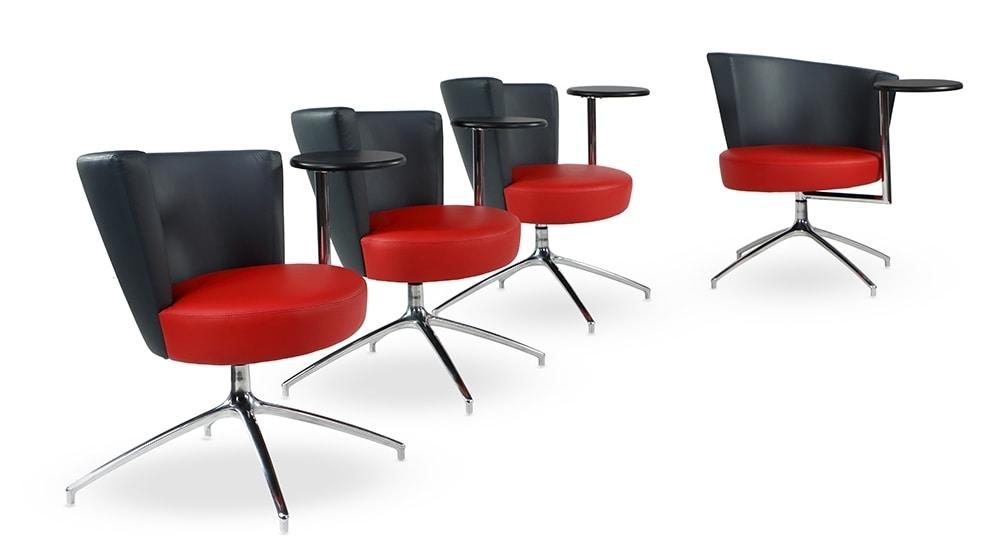 ELIPSE 1TR, Poltrona con seduta circolare, con tavolino integrato