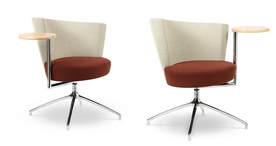 Poltrona con seduta circolare con tavolino integrato idfdesign - Poltrone moderne design ...