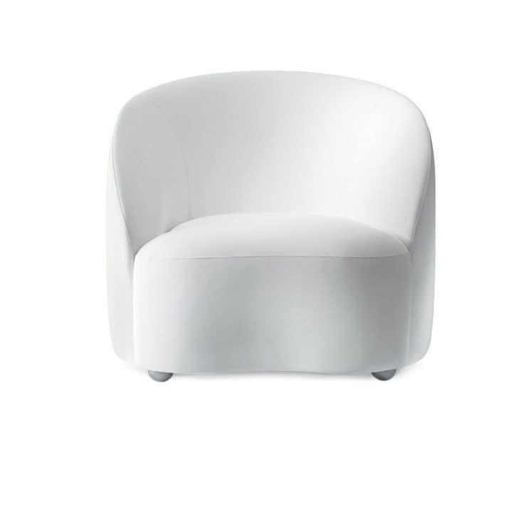 Euforia system 00168, Confortevole poltrona imbottita per eleganti soluzioni contact