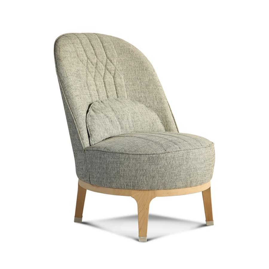 Poltrona moderna in tessuto con schienale alto idfdesign - Poltrona moderna design ...