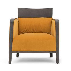 Logica 00942, Poltrona in legno massello per aree lounge