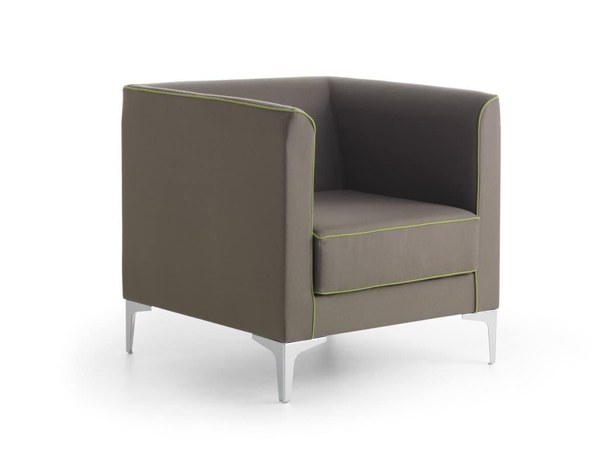 Mizar 01 poltrona lineare dal design moderno per ufficio idfdesign - Poltrone moderne design ...