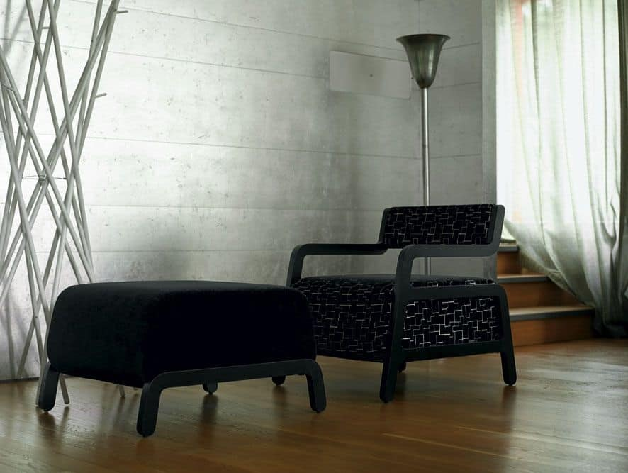 Poltrona imbottita in faggio elegante e originale idfdesign for Poltrone moderne design