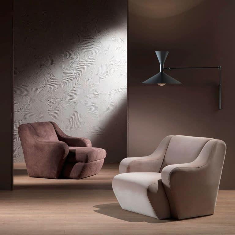 Poltrona comoda imbottita in poliuretano indeformabile for Poltrone moderne design