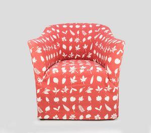 Pompidou, Poltrona tappezzata con tessuto personalizzabile