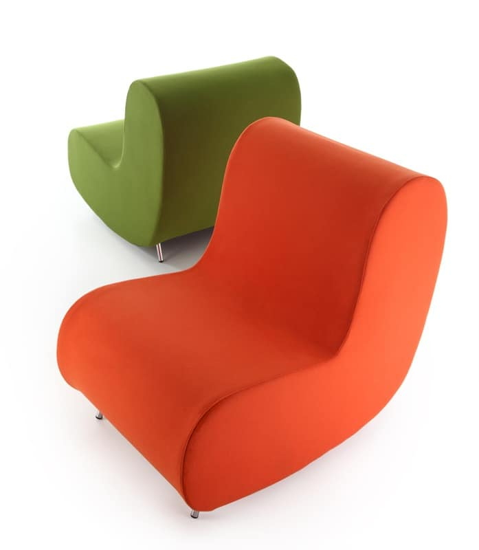 Simple armchair, Poltrone pelle o tessuto