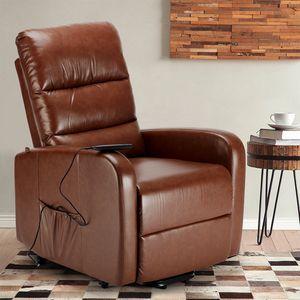 Poltrona reclinabile relax elettrica con alzapersona in Similpelle ELIZABETH Design - SR681PUN, Poltrona elettrica con alzapersona