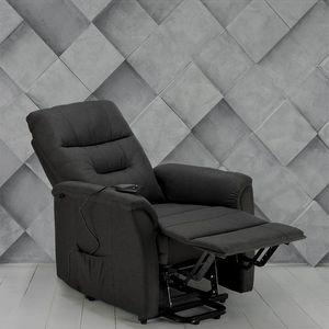 Poltrona relax elettrica reclinabile con alzapersona in Tessuto MARIE per anziani - SR680FGS, Poltrona reclinabile con meccanismo elettrico