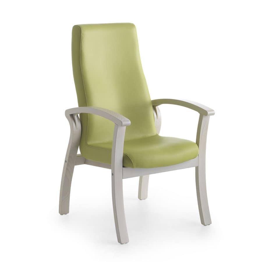 Poltrona comoda con schienale alto per anziani idfdesign for Poltrone per anziani amazon