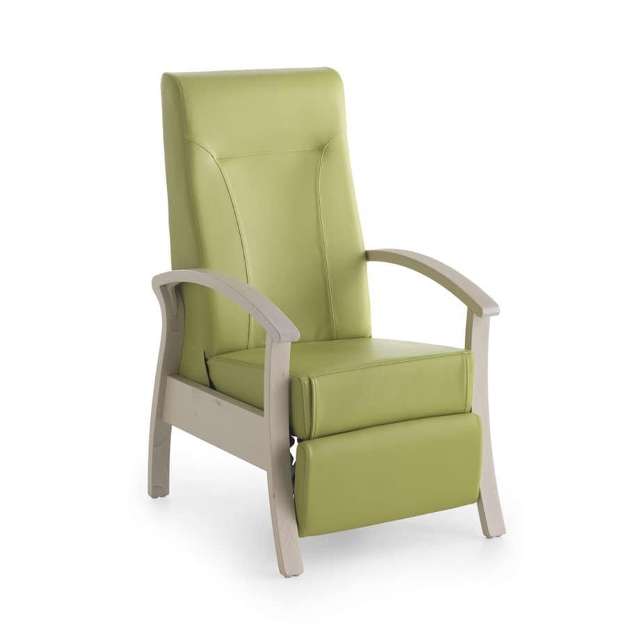 poltrona stabile e rilassante reclinabile per anziani