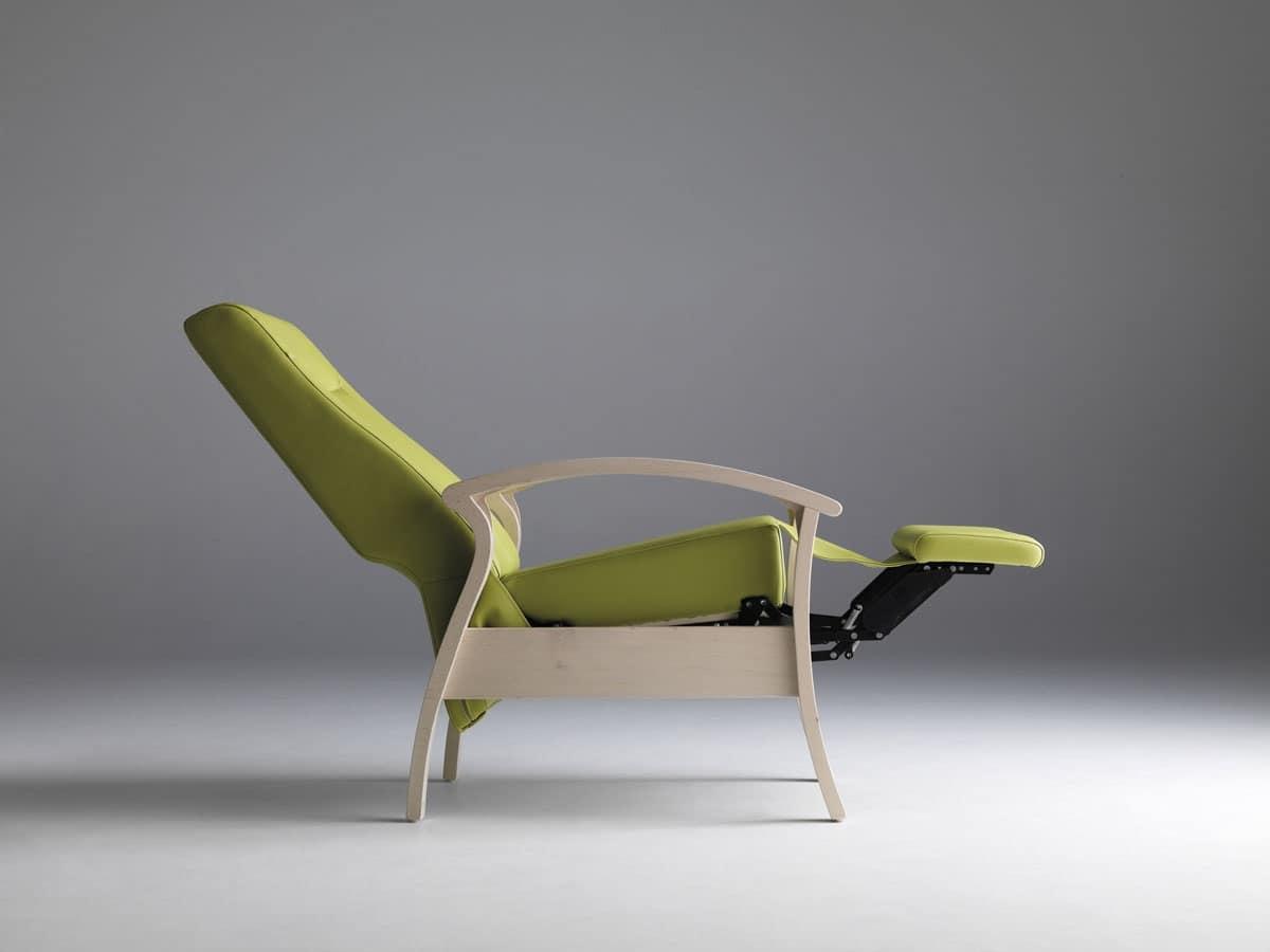 Silver Age 08 EV, Poltrona stabile e rilassante, reclinabile, per anziani