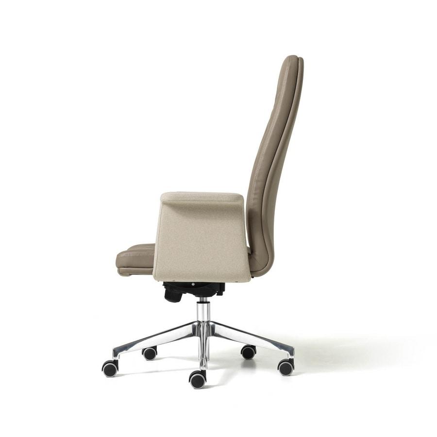 Sedia direzionale da ufficio, con ruote auto-frenanti  IDFdesign