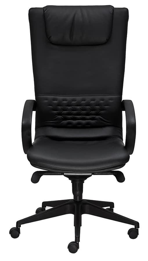 Excellent diamond alta poltrona da ufficio con schienale alto in pelle with poltrona da ufficio - Poltrona ergonomica ikea ...