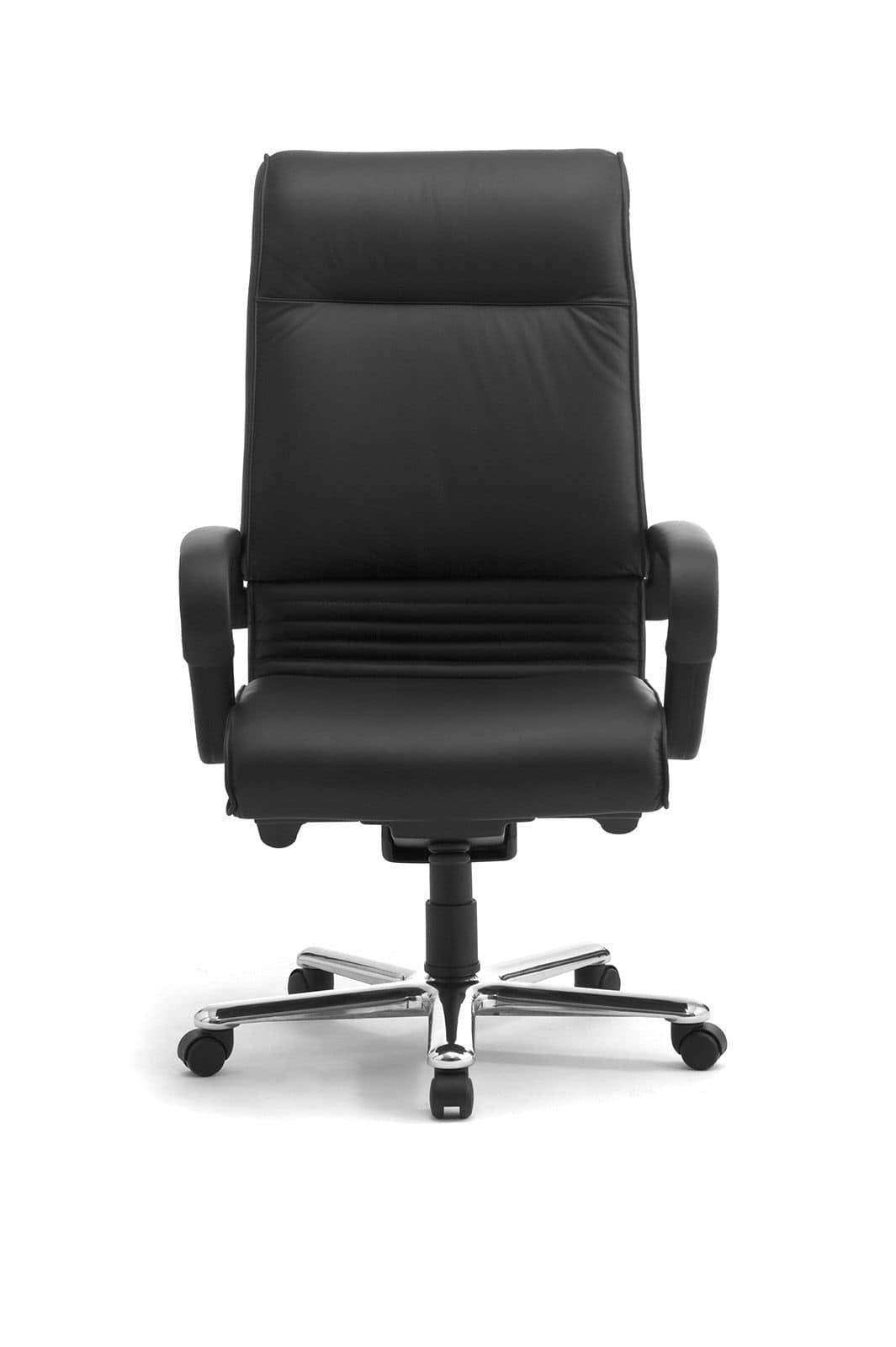 Sedia in pelle con schienale alto per uffici direzionali for Poltrona ufficio design