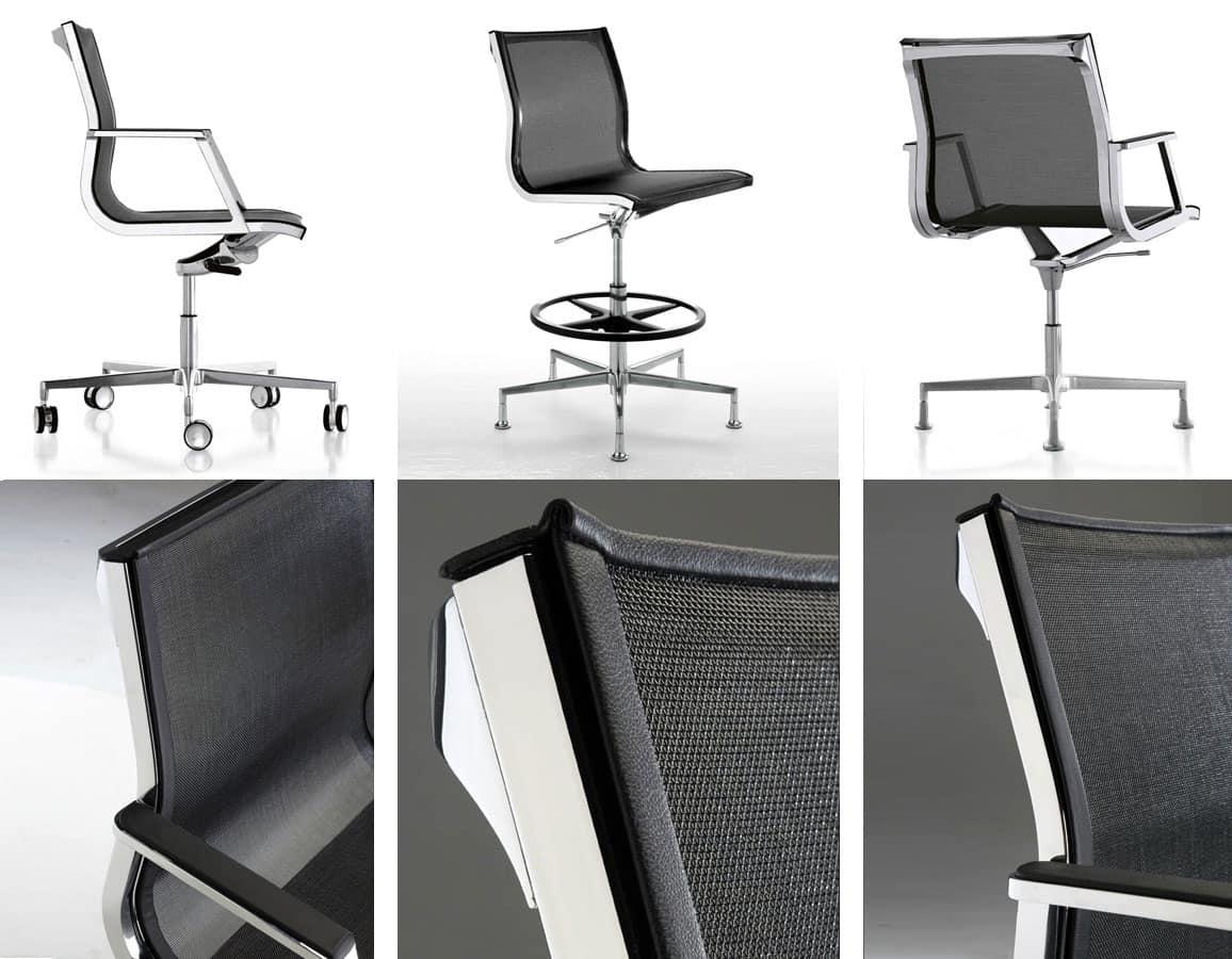 Nulite 24000, Sedia direzionale con schienale in rete per ufficio