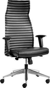 Prestige alta, Poltrona ufficio con schienale in rete nera elastica