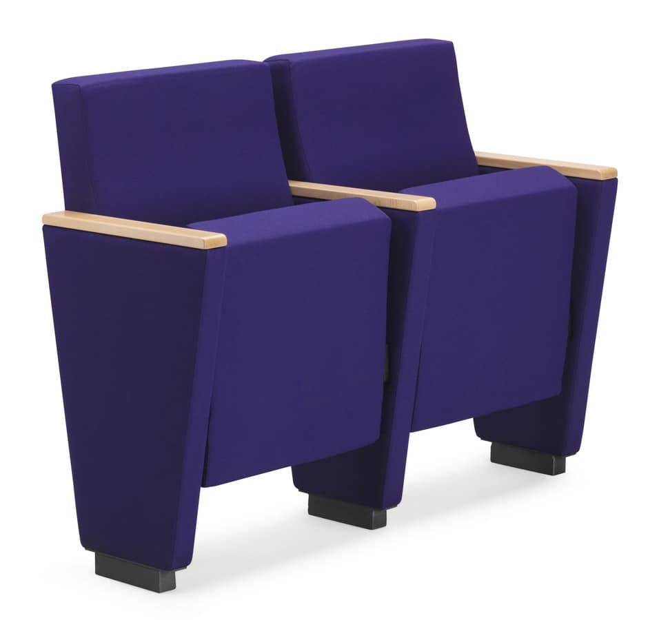 ARAN 580, Poltrona per auditorium con seduta ribaltabile