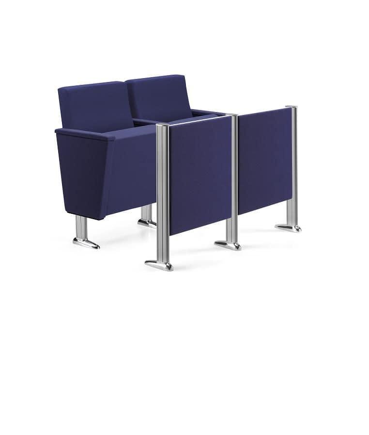 ARAN 583, Poltrone con sedili ribaltabili per teatri, auditorium e sale conferenza