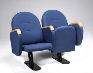 Arcua, Poltrona comoda con seduta chiudibile, per sala cinema