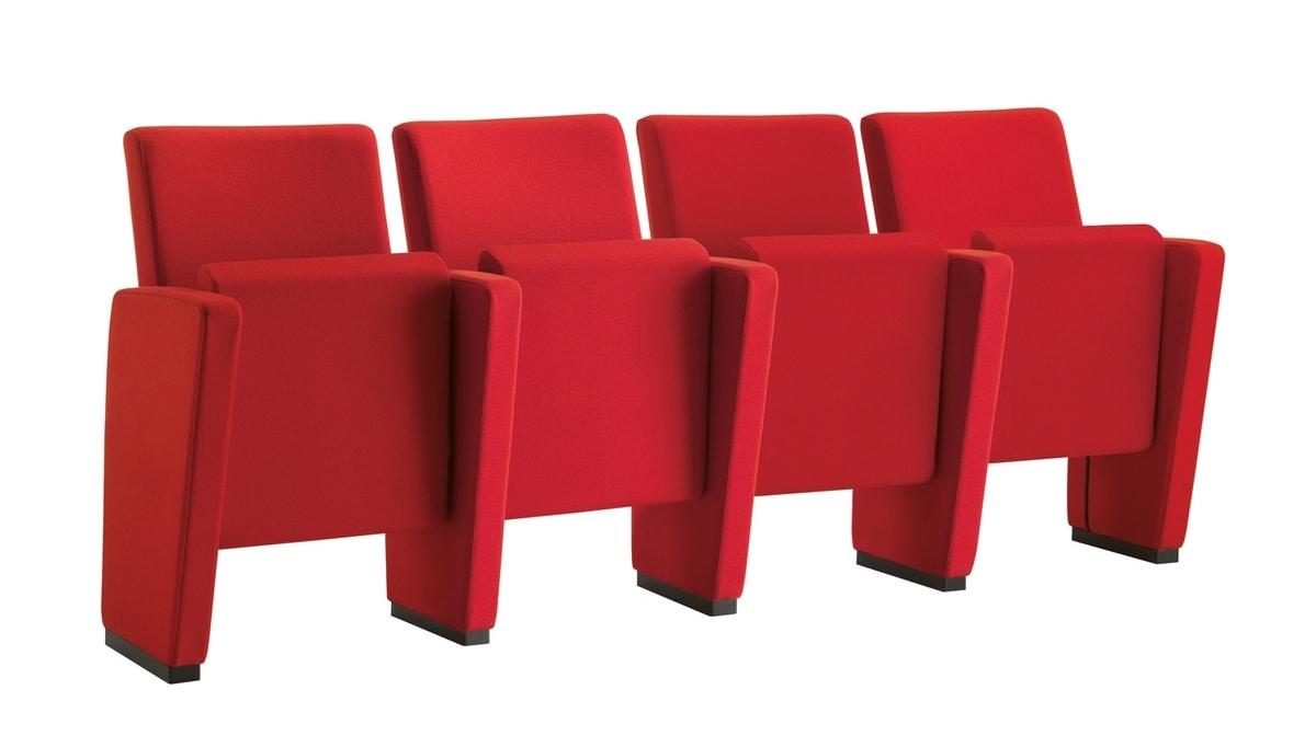 Auditorium, Poltrone agganciabile per teatri ed auditorium