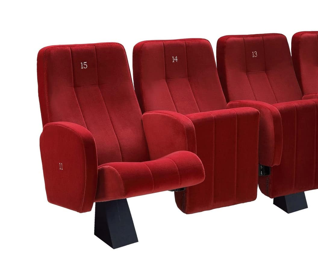 Comfort Plex, Poltrona ignifuga  imbottita per sale da cinema