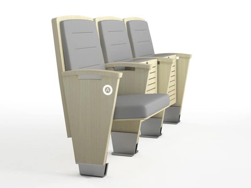 Poltrone con sedile reclinabile per teatro e sala conferenze