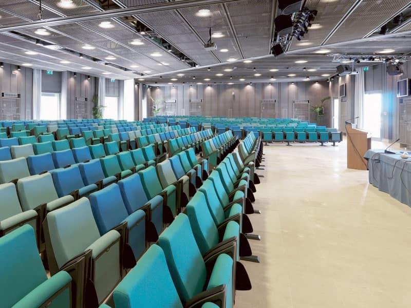 Erasmus, Poltrona con sedile reclinabile, struttura in metallo, per sale conferenza