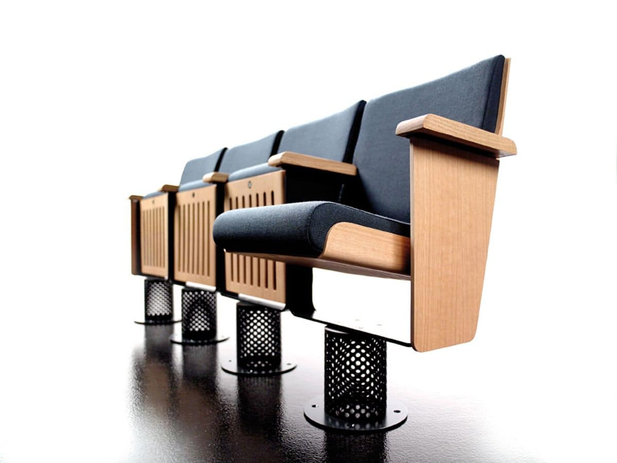King, Poltrone fissate a terra, sedile reclinabile, per auditorium e teatri