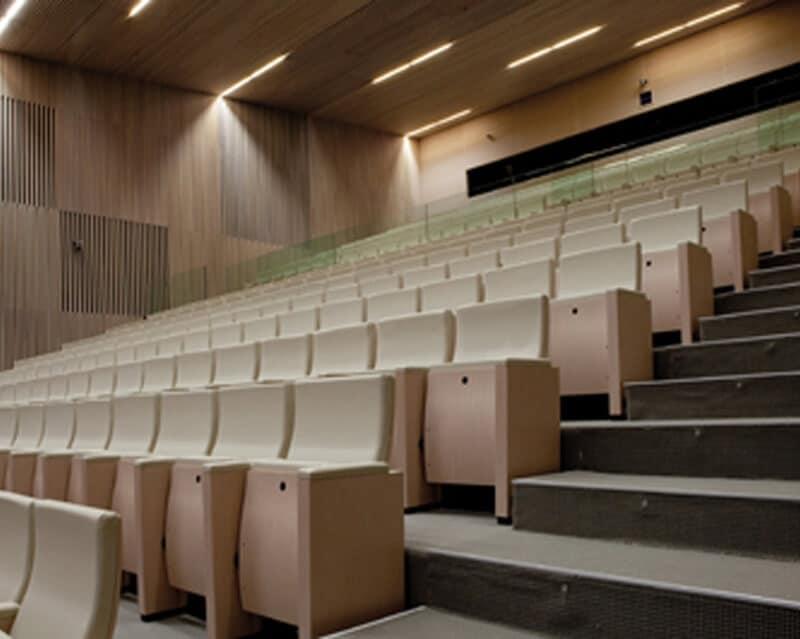 Sedute per auditorium sedile reclinabile struttura in for Poltrone teatro