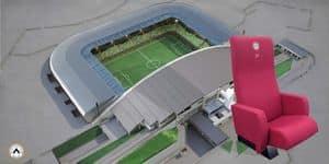 Poltrone Stadio, Poltrone con sedile ribaltabile con riscaldamento, per stadi