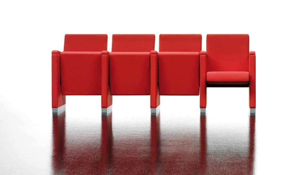 Quadra, Poltrone per aula magna, sedile reclinabile