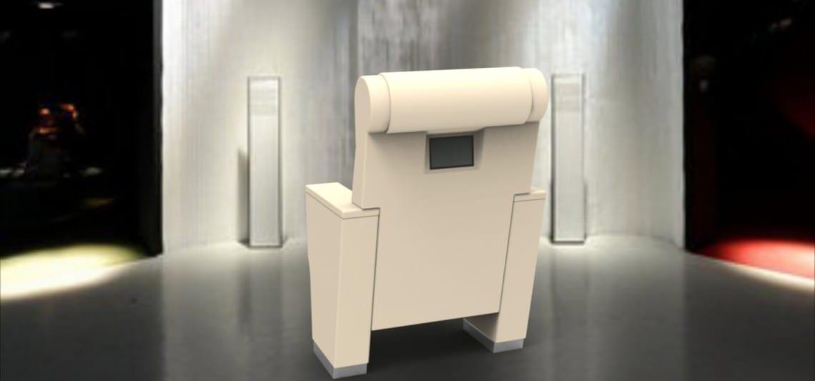 ROYALE VIP, Poltrona multimediale per auditorium, con schermo touch screen