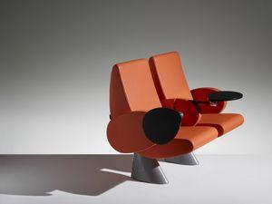 TULIP, Poltrona per auditorium con braccioli e sedile richiudibili