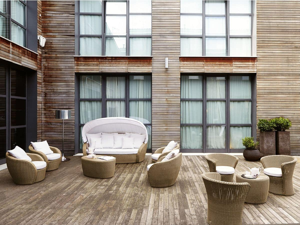 Poltrona in vimini per terrazzo giardino o bar spiaggia - Sedie in vimini ikea ...