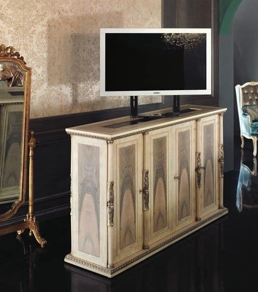 Porta tv classico di lusso in legno per salotto idfdesign - Porta tv classico ...