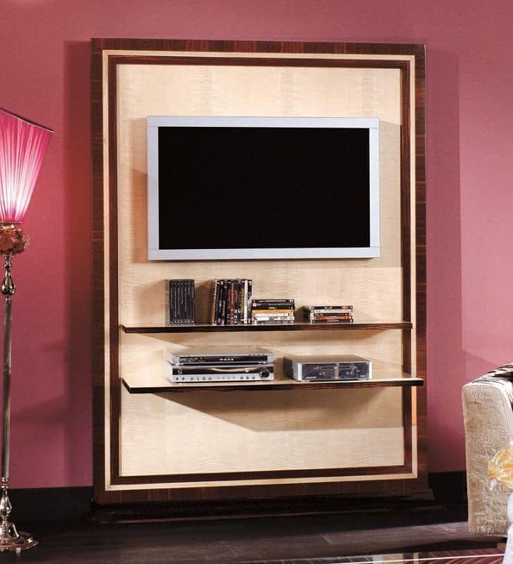 Porta tv classico di lusso impiallacciato ebano e acero - Porta tv classico ...