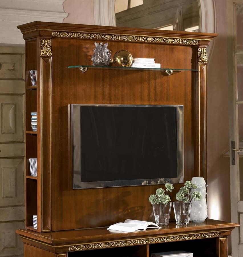 Alzata per porta tv con ripiani in stile classico di - Mobili porta tv classici ...